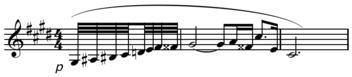 "Clarinet opening part from Richard Strauss's opera Salome (Alex Ross: ""Rest Is Noise Audio Guide"")"