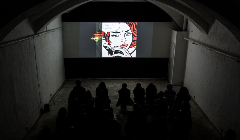 Screening at Luda Gallery, St Petersburg for Cyberfest media art festival